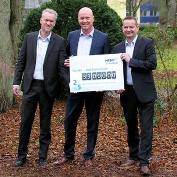 Spendenübergabe 33.000 Euro zum MEBO Jubiläum